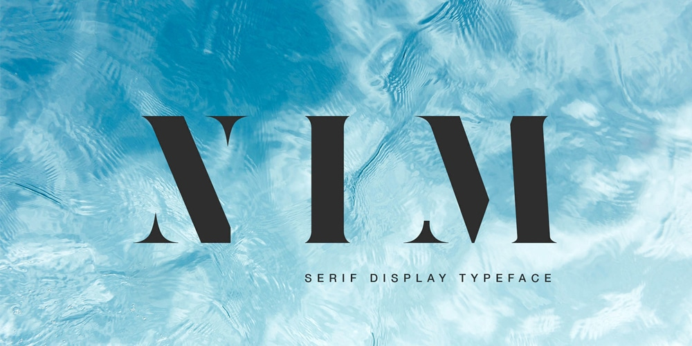 Nim Serif Display Typeface