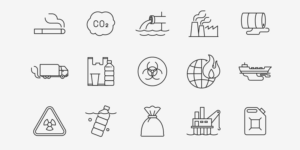 Pollution Vector Icons