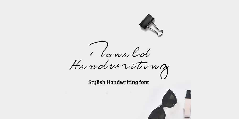 Ronald Handwriting Font