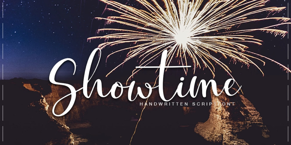 Showtime Handmade Calligraphy Font