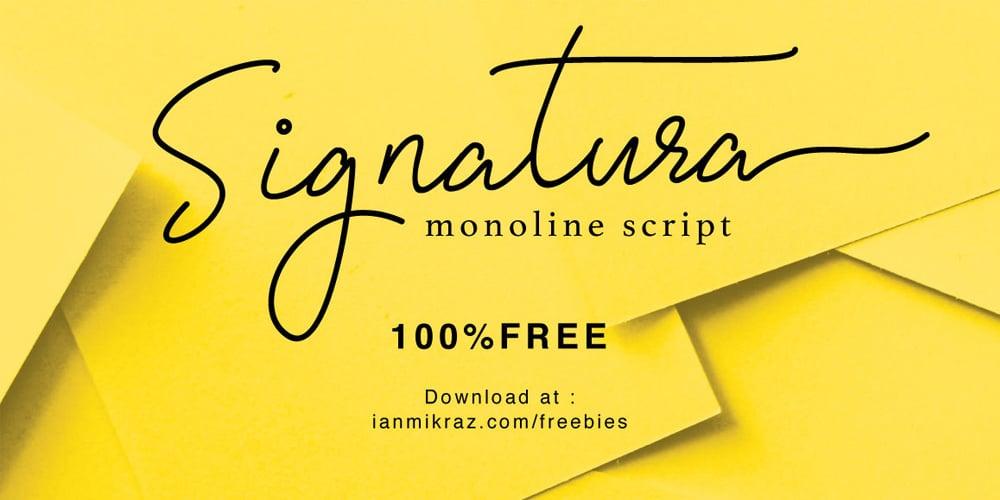 Signatura Monoline Typeface
