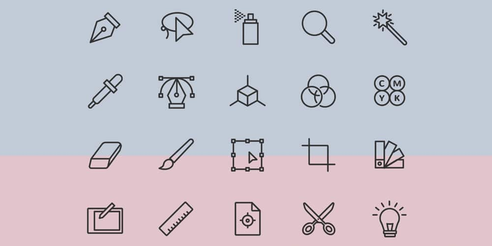 Simple Graphic Design Icons