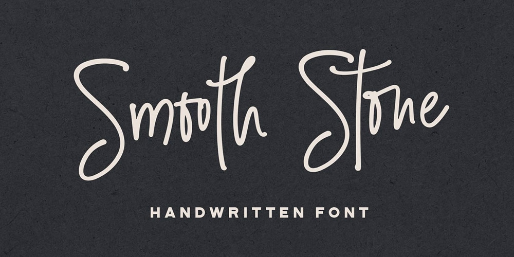 Smooth Stone Handwritten Font