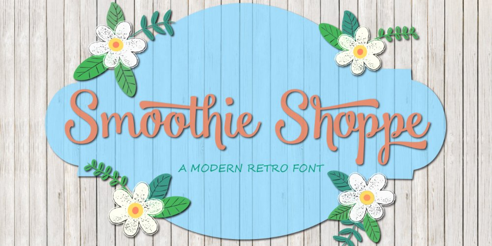 Smoothie Shoppe Typeface