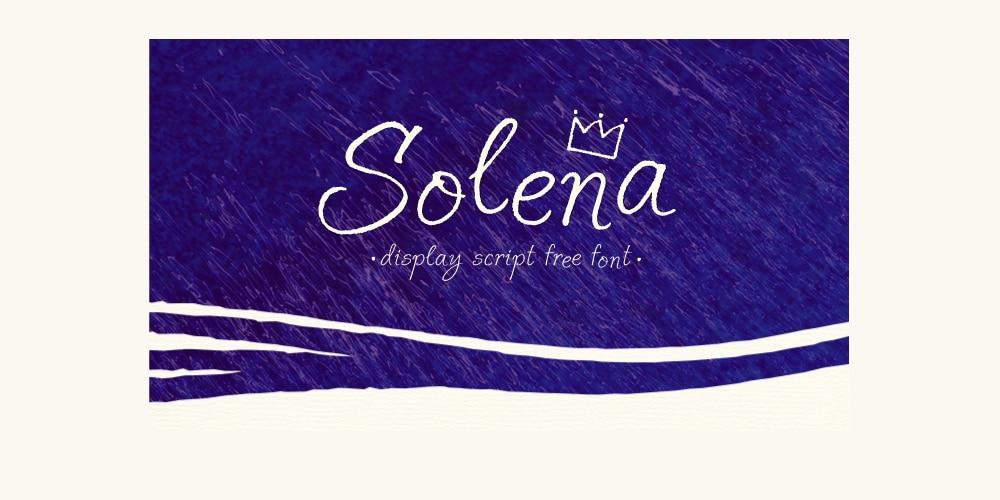 Solena Script Font