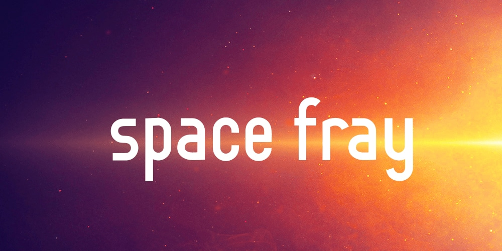 Space Fray Font