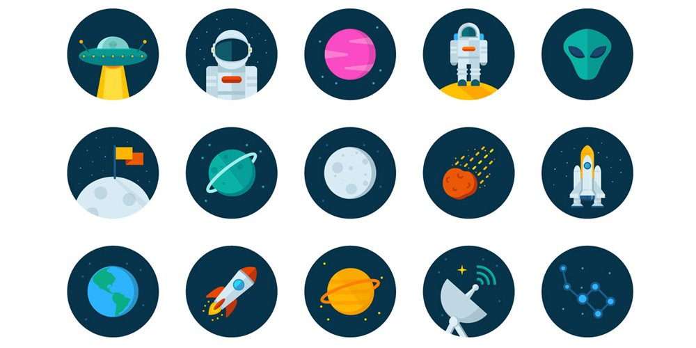 Space-Icons-Vector