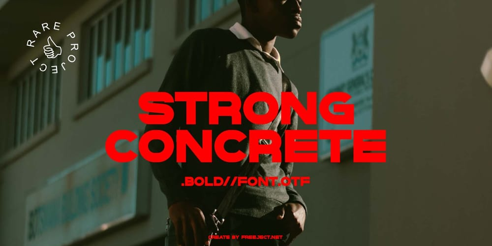 Strong Concrete Bold Font