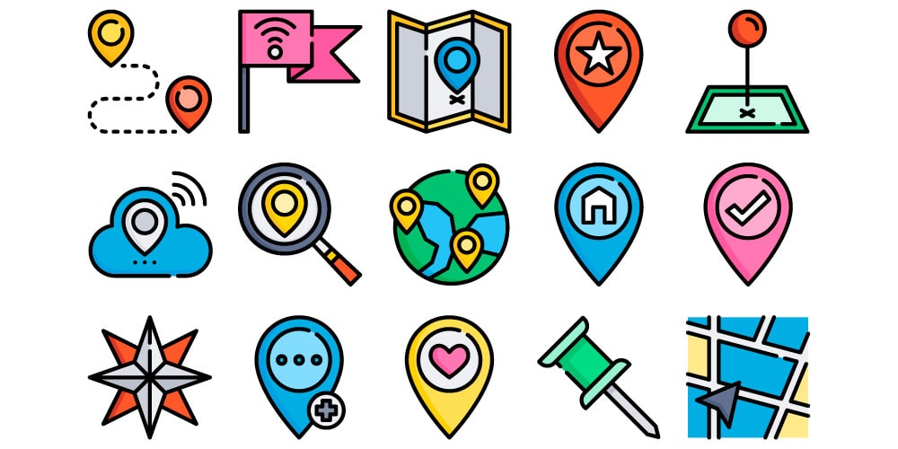 The Free Location Icons