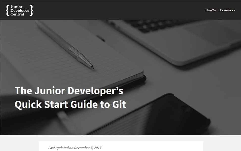The Junior Developer's Quick Start Guide to Git
