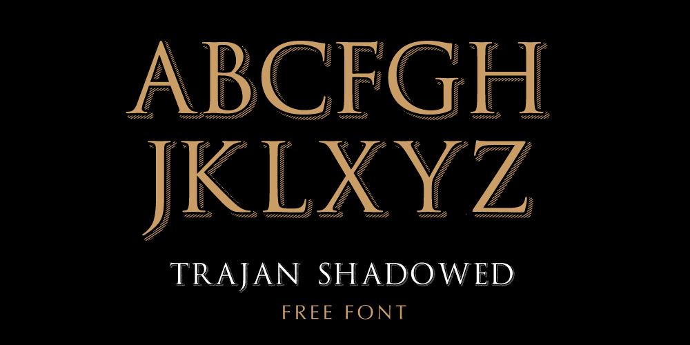 TrajanShadowed Font free