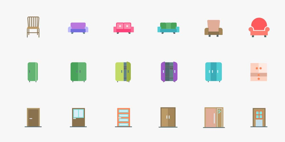 custom transport and household icons