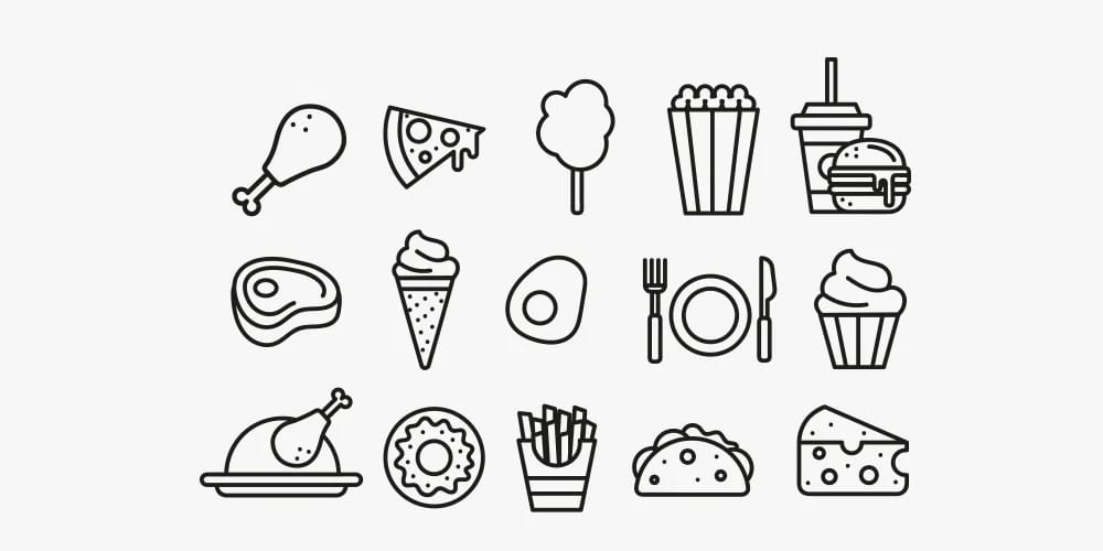 Food Icons Templates