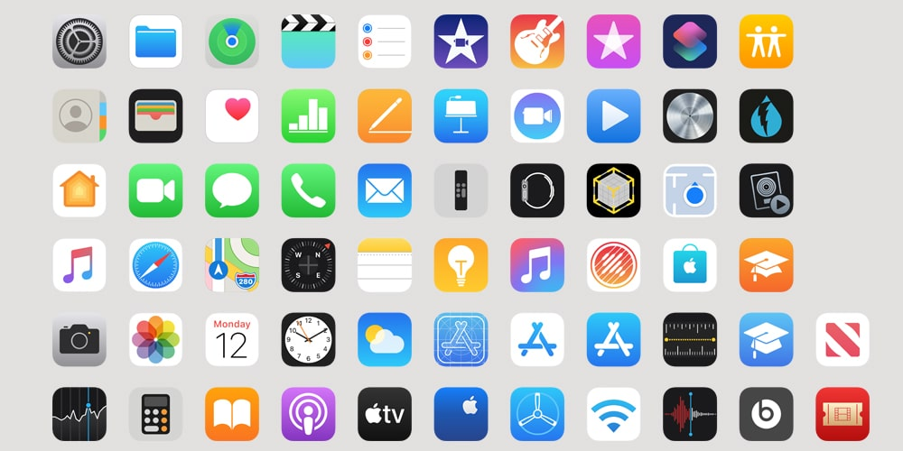 iOS Apple App Icons