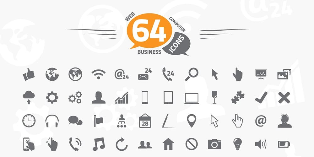 web business and computer icons