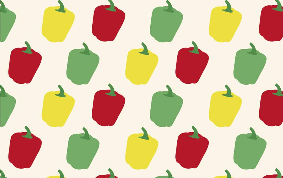 Bell pepper pattern