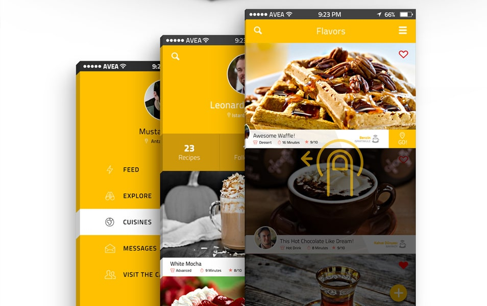 Cafegrapp mobile app design