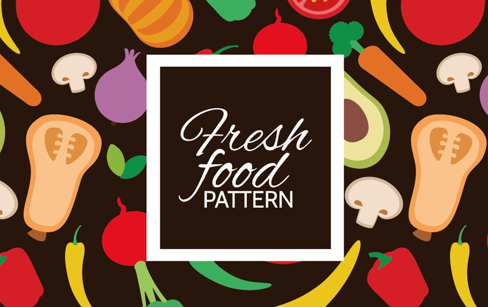 Colorful fresh vegetables pattern