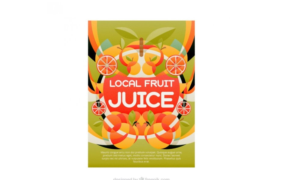 Coloured fuit juice poster