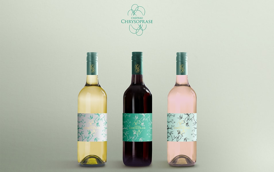 Display Mockup Wine Bottle