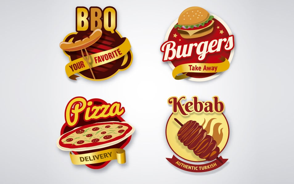 Fast food logo collection
