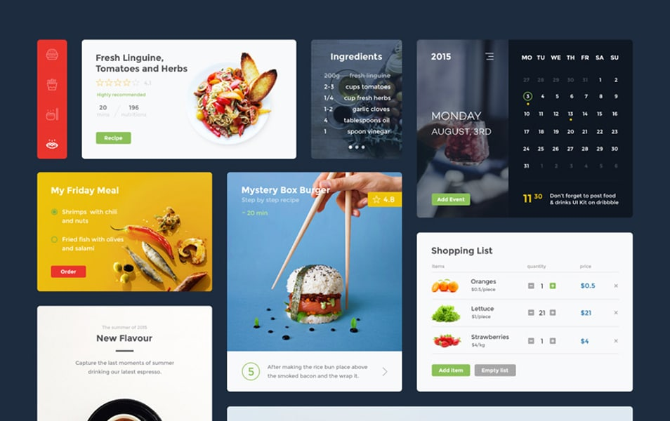 Food & Drink UI Kit (PSD)