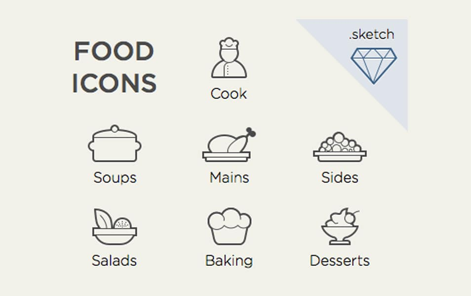Food Icons For Sketch.App