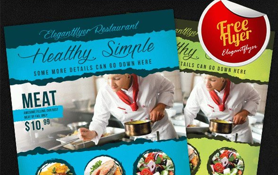 Food – Restaurants Free Flyer PSD Template