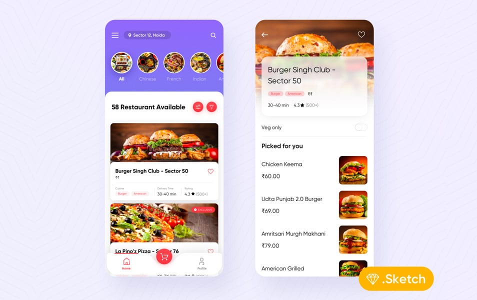 Food Delivery Starter UI Kit