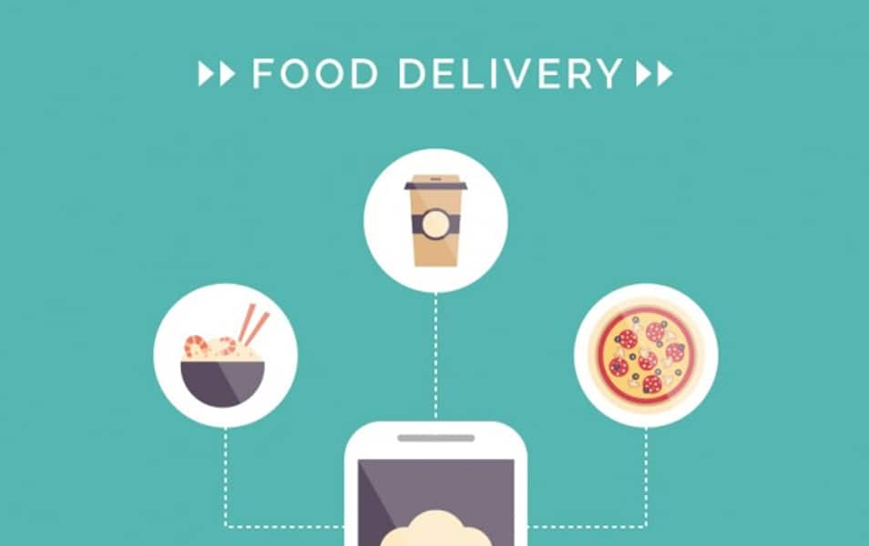 Food delivery infographic