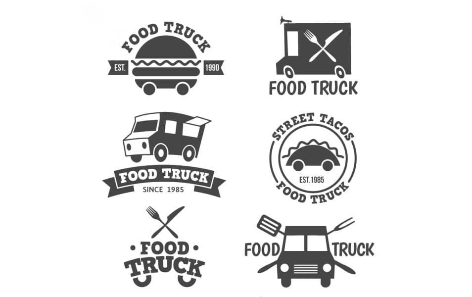 Food truck logo collection