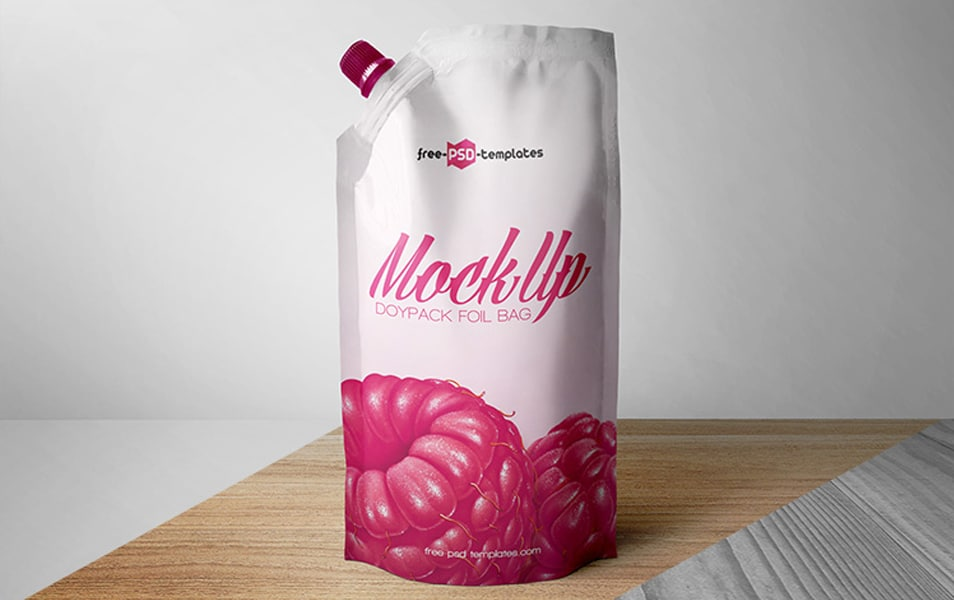 Free Doypack Foil Bag Mock-up