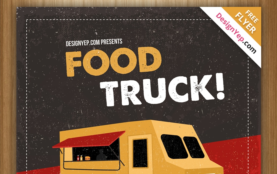Free Food Truck Flyer PSD Template