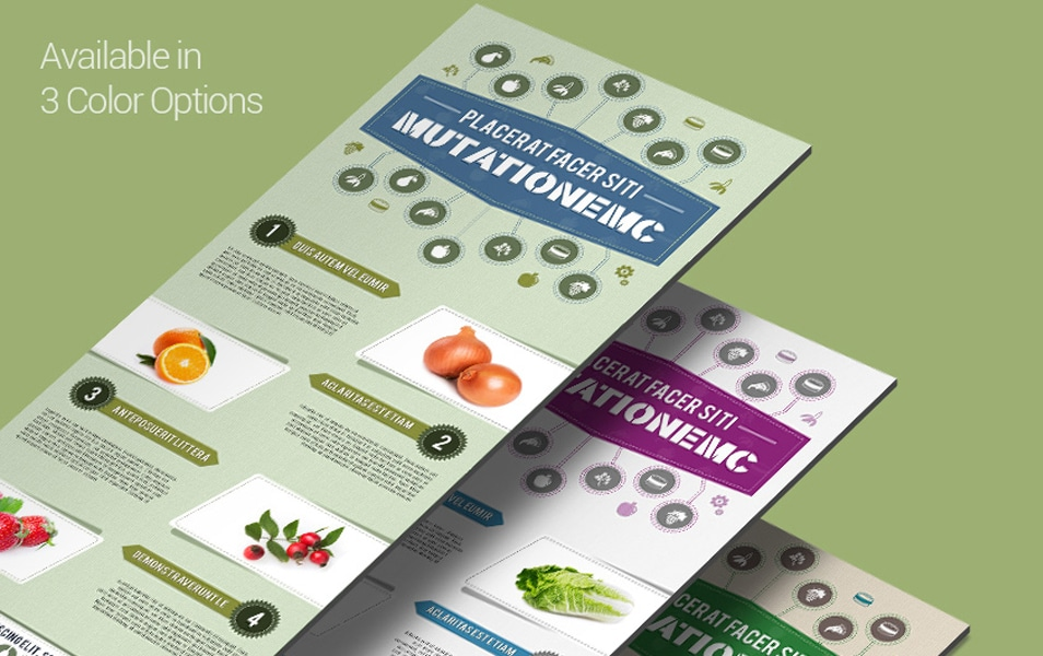 Free Infographics PSD Template in Food and Nutrition Theme