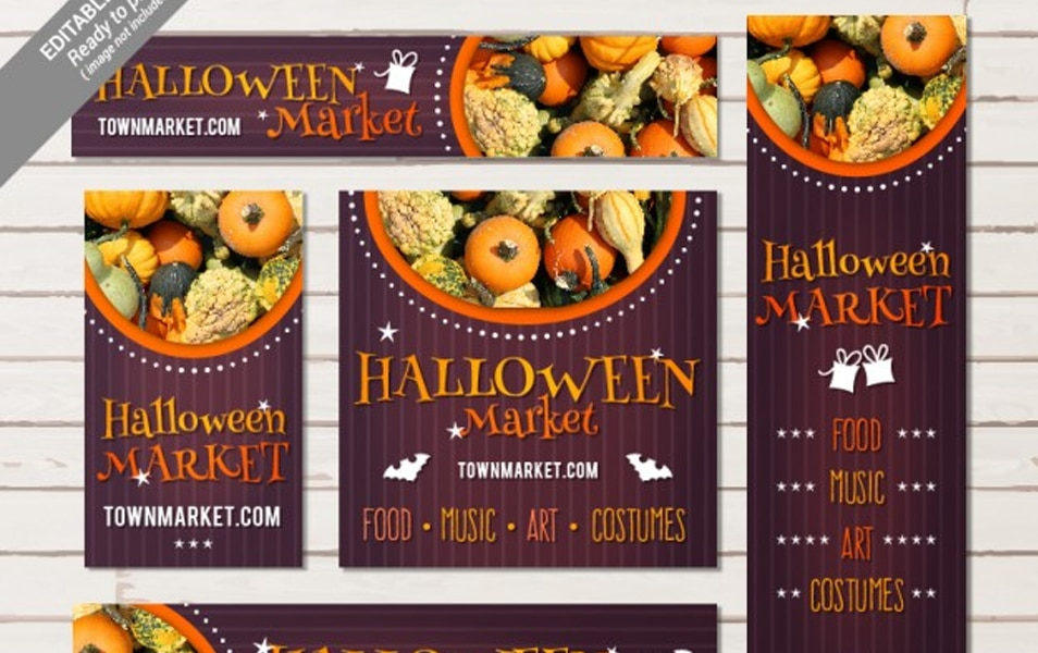 Halloween market stationery