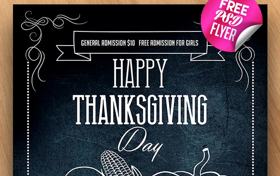 Happy Thanksgiving – Free PSD Flyer Template
