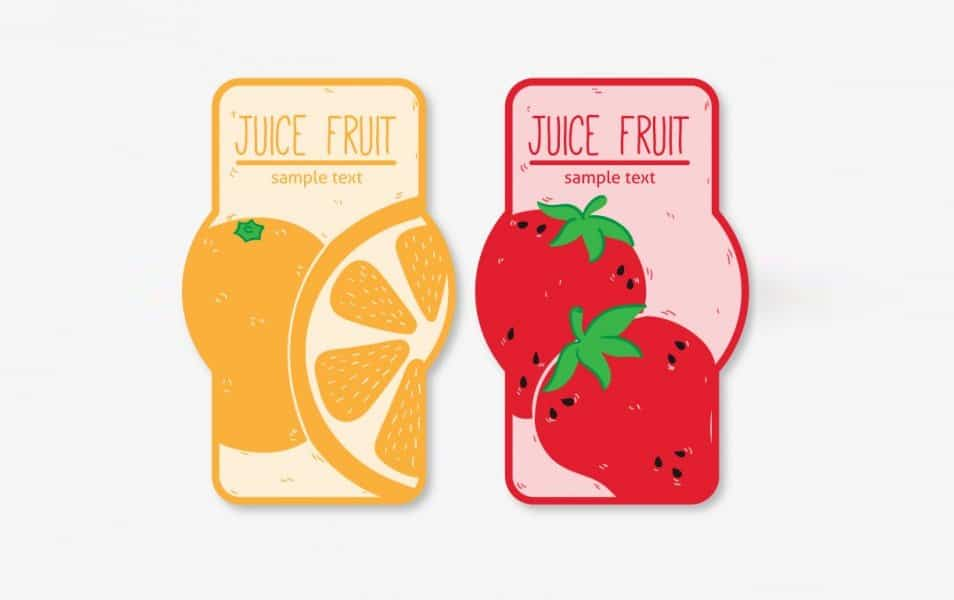 Juice fruit label set