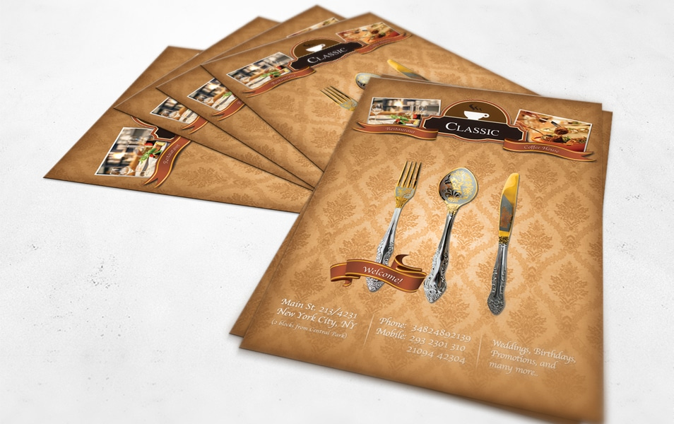 Luxury Restaurant A4 Flyer