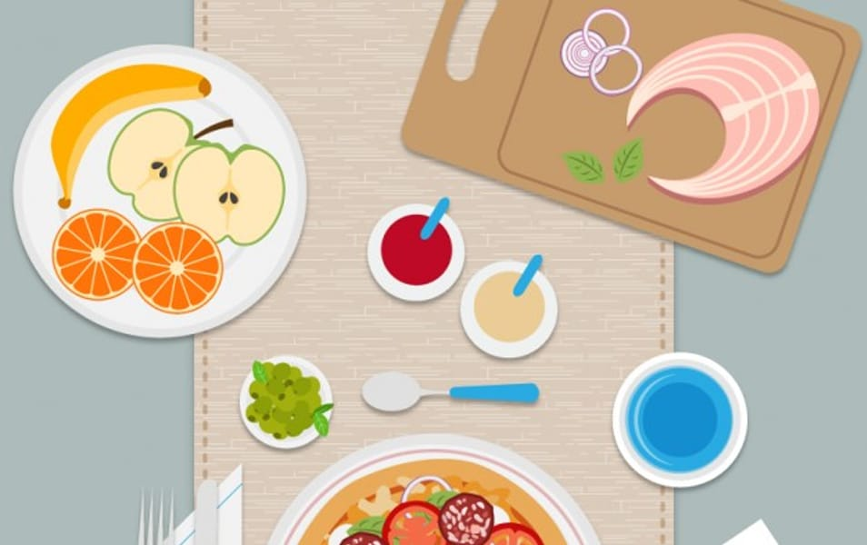 Meal Flat Illustration