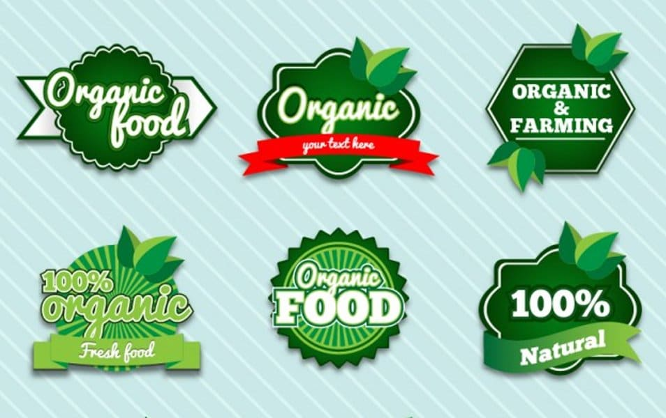 Organic premium badges set