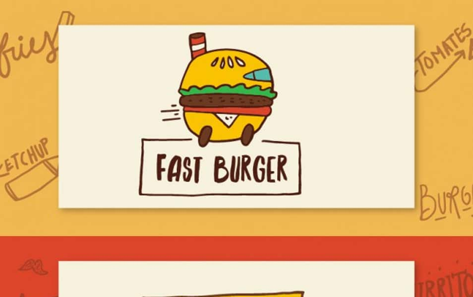 Sketches burger and food truck banners