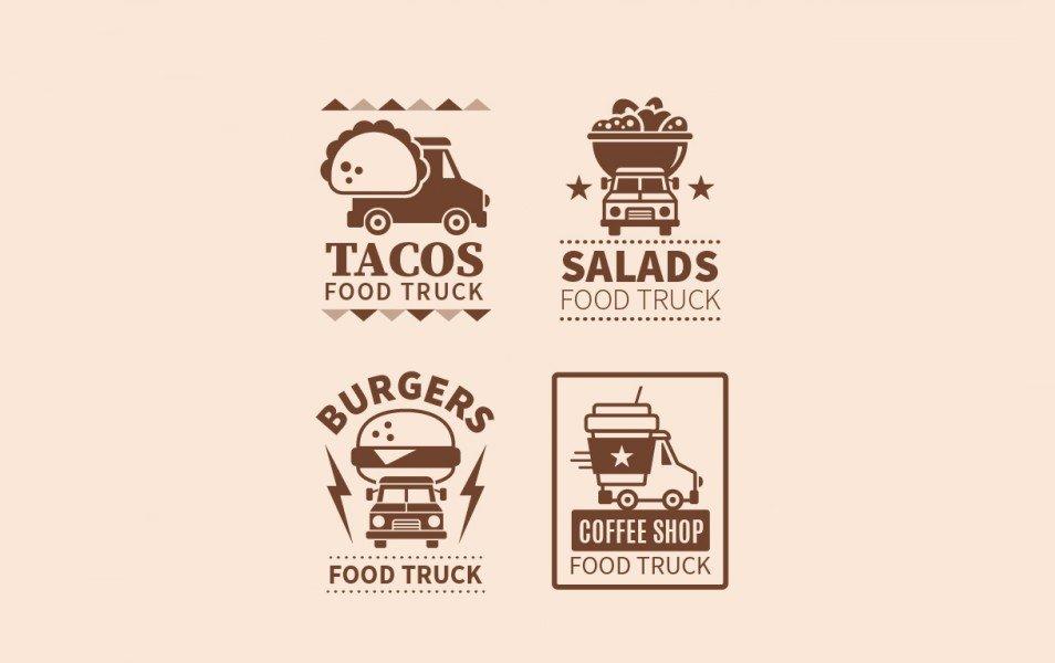 Vintage food truck logos