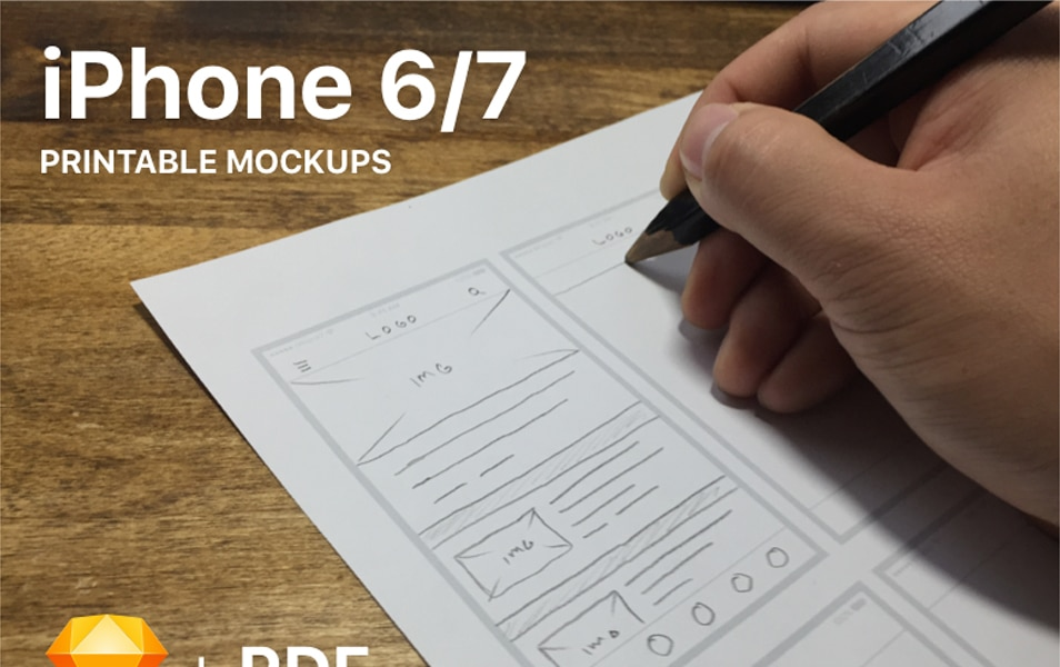 iPhone 6/7 Printable Mockups