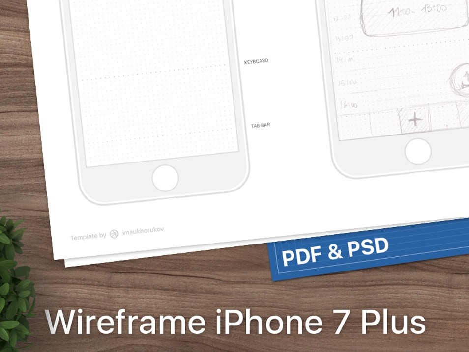 iPhone 7 wireframe