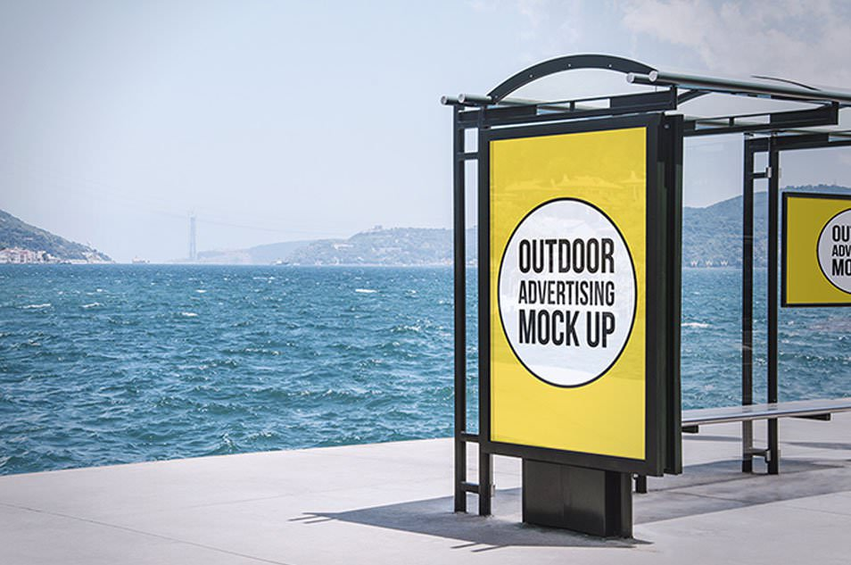 2 Outdoor Advertising Mock-Ups