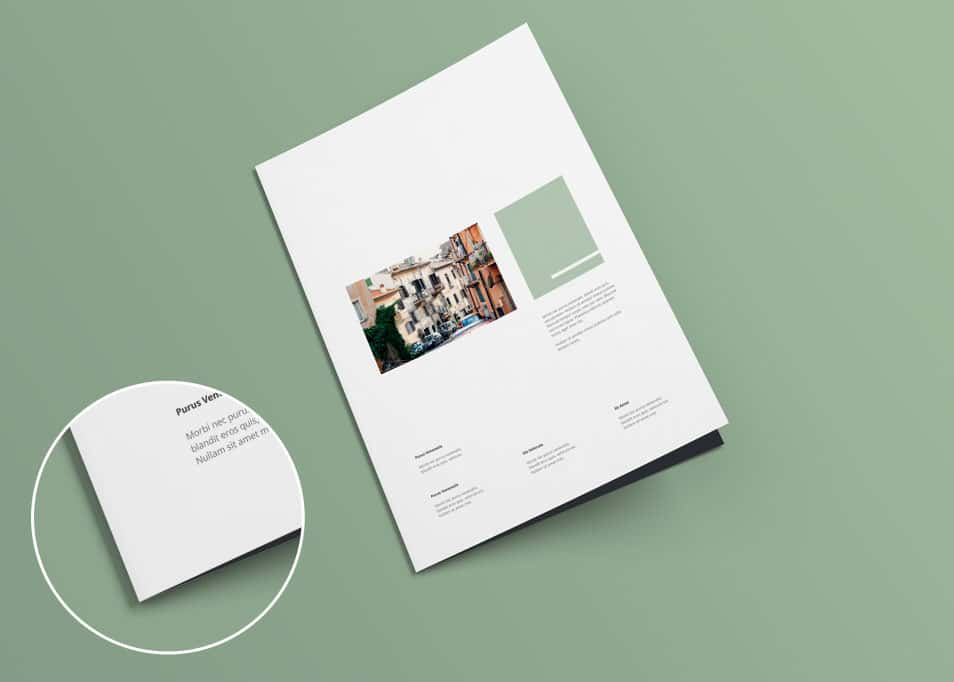 A4 Bi-fold Brochure Mock-up V1.0