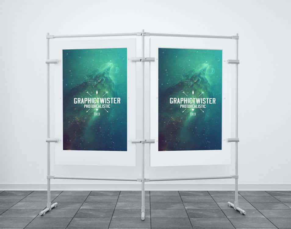 Double Poster Stand