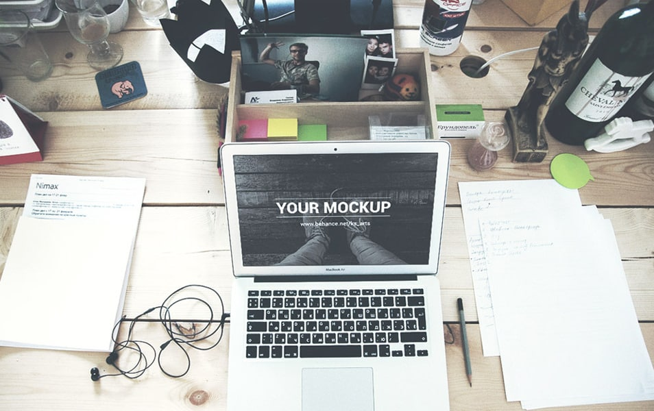 Macbook Air PSD Mockups