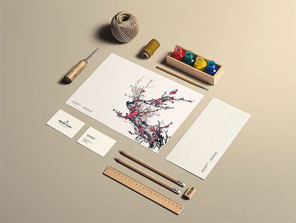 Stationery MockUp Art Craft