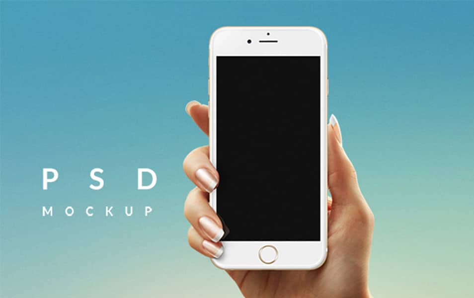 iPhone 6 in Hand MockUp